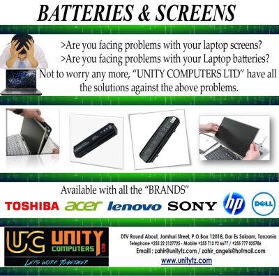 Laptop Batteries & Screens