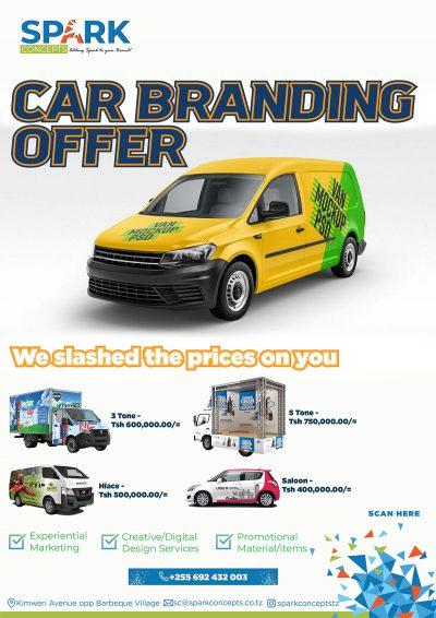 Car Branding prices reduced