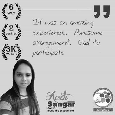Aarti Sangar's Uhuru Walk experience
