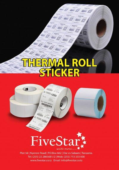 Fivestar Printers Thermal Stcker Rolls