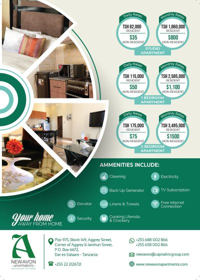 New Avon Apartments Accommodation rates