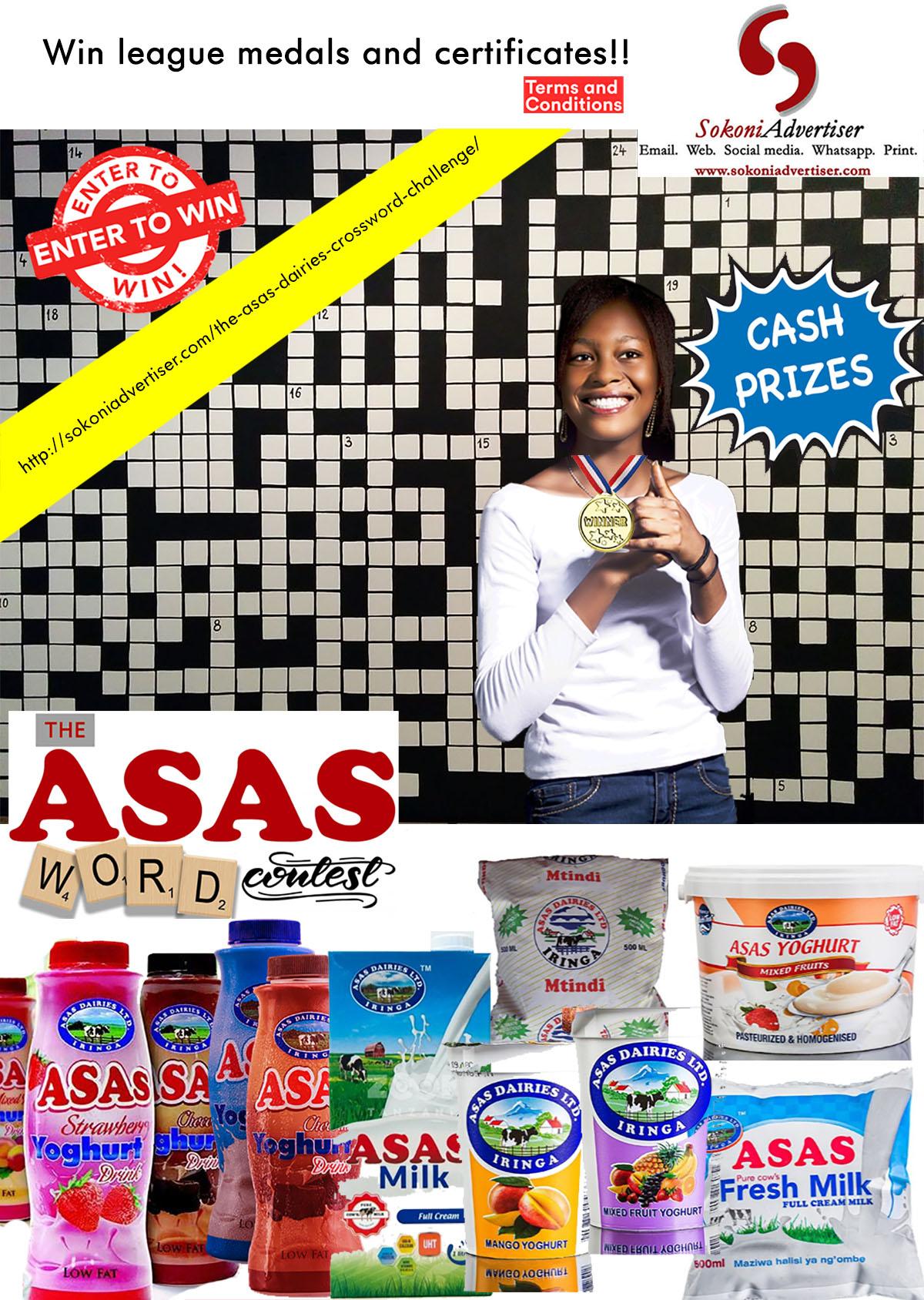 Asas Dairies Crossword Compeition Prizes
