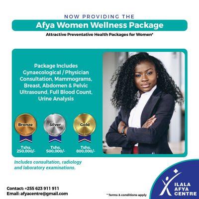 Ilala Afya Centre Women Wellness Package