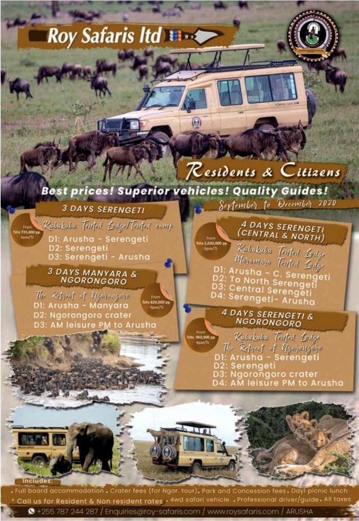 Roy Safaris Residents & Citizens offer