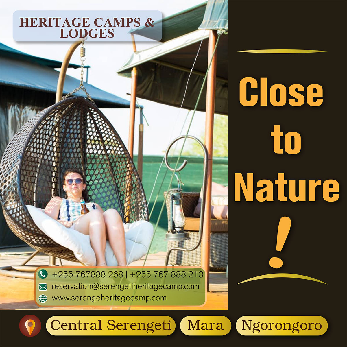 Serengeti Heritage Camps & Lodges Advertisement