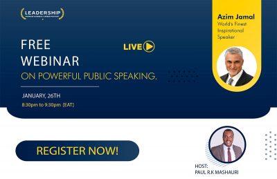 Azim Jamal Public Speaking Webinar