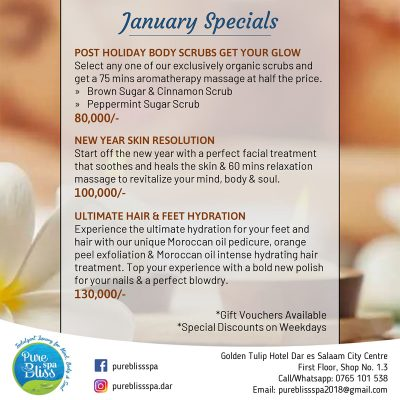 Pure Bliss Spa January Specials