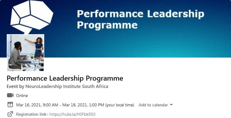 Performance Leadership Programme