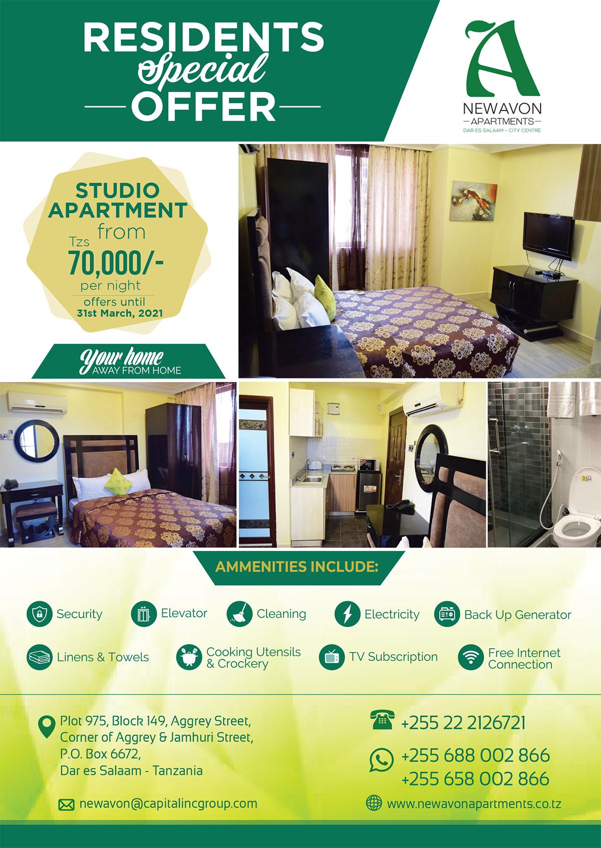 New-Avon-Apartments-Studio-Apartment-Residents-Offer