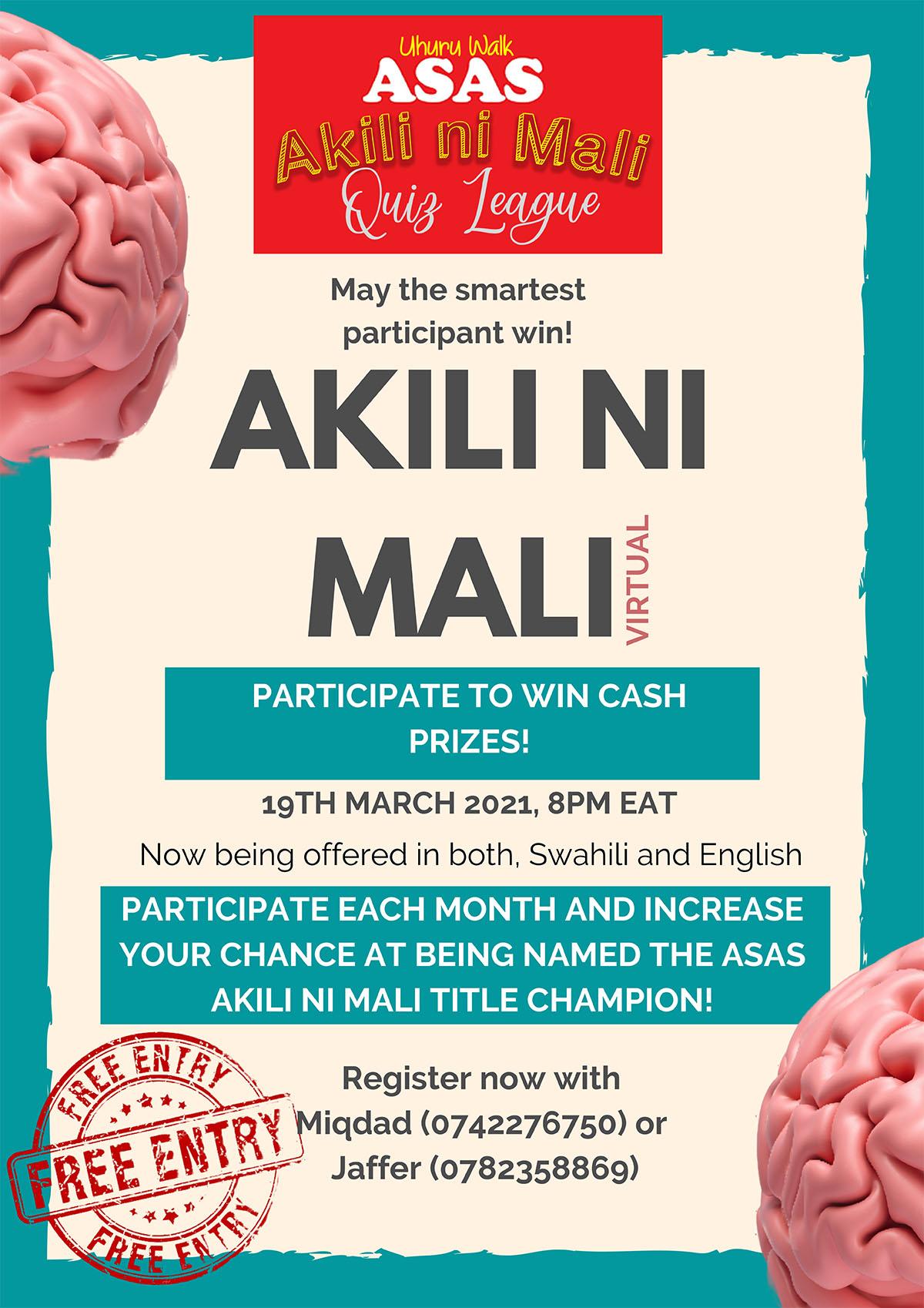 Asas-Uhuru Walk Akili ni Mali Quiz League