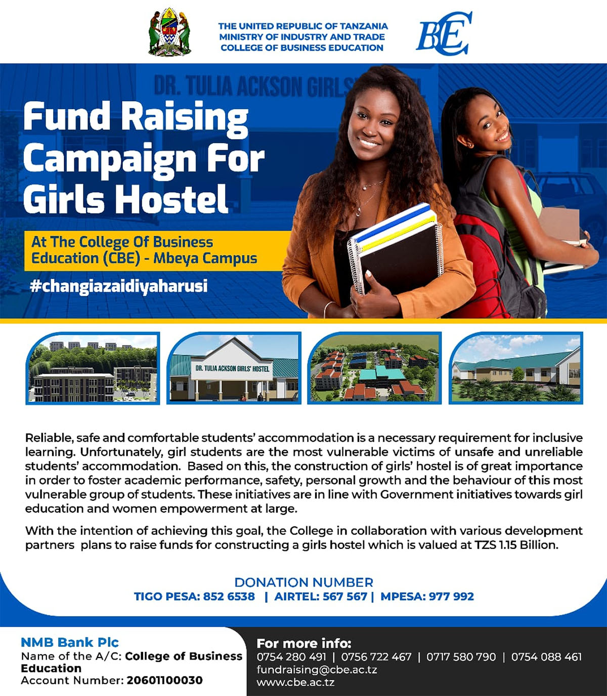 College-of-Business-Education-Fund-Raising-Campaign-forGirls-Hostel