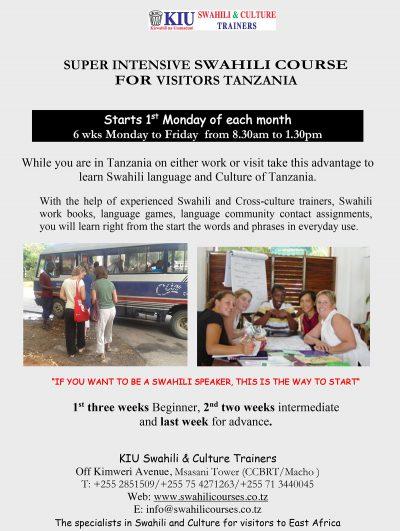 KIU-Swahili-Culture-Trainers-Super-intensive-Swahili-course-for-visitors-to-Tanzania