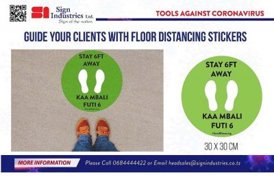 Sign-Industries-Guide-your-clients-with-floor-distancing-stickers